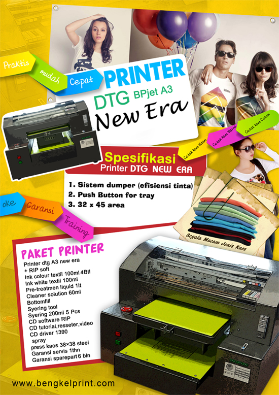 printer sablon kaos dtg
