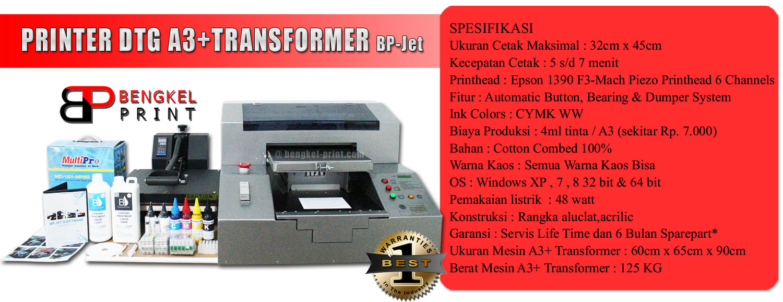 Jual Paket Mesin Sablon Kaos Digital A3 Transformer 2016