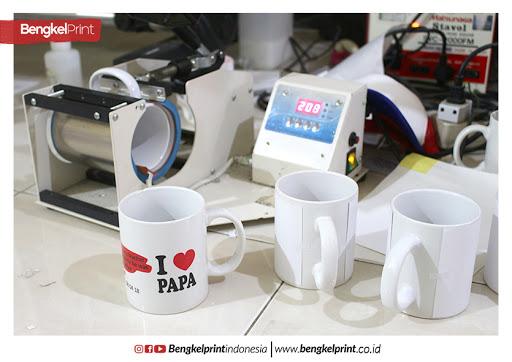 Memiliki fungsi untuk sablon MUG custom yang lebh praktis dengan teknik sublimasi. Untuk mesin press MUG dijual dengan harga mulai 1 jutaan sekian.