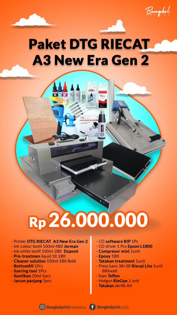 jual printer dtg a2 new era generasi 2 murah 2020