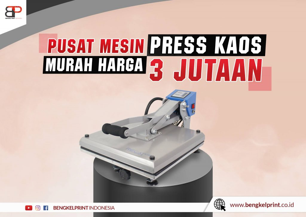 Pusat Mesin Press Kaos Murah