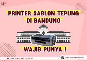 Mesin Sablon Tepung Bandung